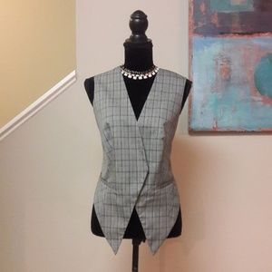Ashley Stewart/ Grey/ Plaid Vest